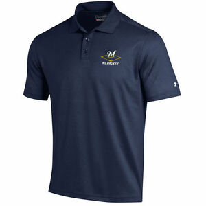 Under Armour Milwaukee Brewers Navy MLB Performance Polo