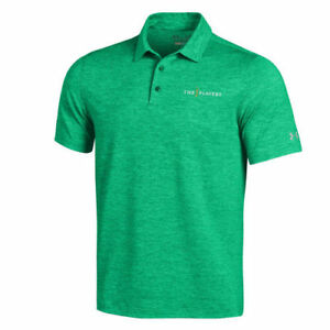 Under Armour THE PLAYERS Heathered Green Elevated Polo