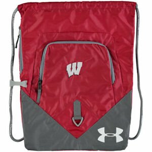 Under Armour Wisconsin Badgers Red Undeniable Sackpack - College