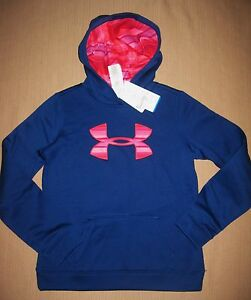 NWT UNDER ARMOUR GIRL'S COLDGEAR LOOSE FIT HOODIE SZ L