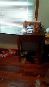 old sewing machine build into a desk $400.00