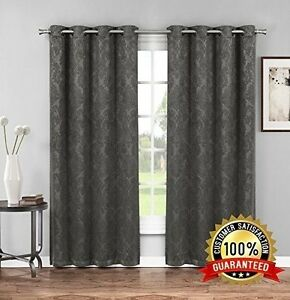 NEW Premium Embossed Grommets Thermal Weaved Blackout Curtains | Noise Reduction