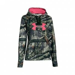 Under Armour Women's Camo Big Logo Hoodie Mossy Oak Treestand Med 1265757-905-MD