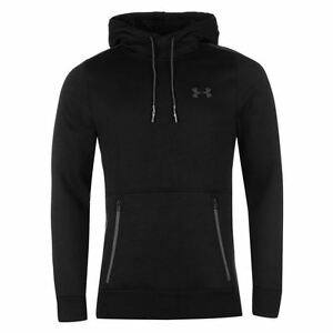 Under Armour Varsity Pullover Hoody Mens Black Hoodie Sweatshirt Top Sportswear