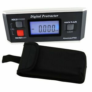 Digital Inclinometer 0 360° Protractor Angle Finder Level V Groove Magnetic Base $49.90