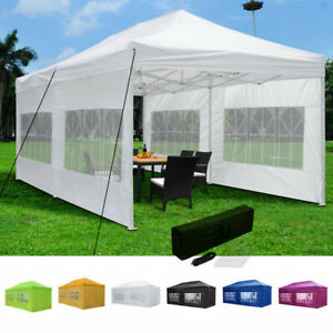 10x20 Pop Up Canopy Patio Outdoor Wedding Shelter Shade Tent Sidewall 420D