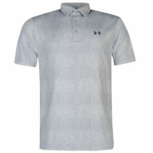 Under Armour Playoff Golf Polo Shirt Mens White Top T-Shirt Tee