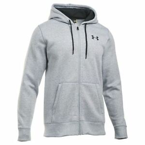 Under Armour Storm Rival Full Zip Hoody Mens Grey Hoodie Jacket Sportswear