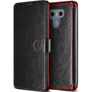For LG G6 Case VRS® [Layered Dandy] Slim Magnetic Leather Wallet Card Slot Cover