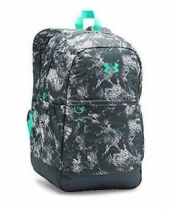 Under Armour Girls' Favorite Backpack Stealth GrayGreen Breeze One Size