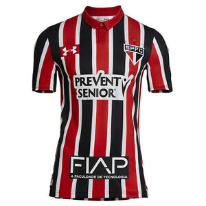 Sao Paulo Sponsors Away Soccer Football Jersey Shirt - 2016 Under Armour Brazil