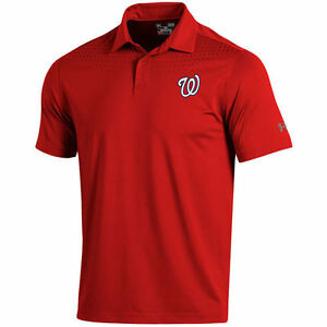 Under Armour Washington Nationals Red Coolswitch Ice Pick Performance Polo