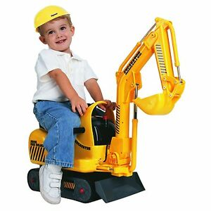 Mini Excavator Road Construction Toys For Toddlers Ride Bruder Battery Powered