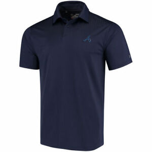 Under Armour Atlanta Braves Navy Coolswitch Ice Pick Performance Polo - MLB