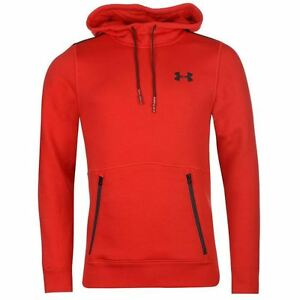 Under Armour Varsity Pullover Hoody Mens Red Hoodie Sweatshirt Top Sportswear