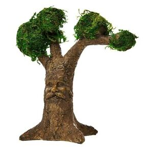 WOODLAND FAIRY GARDEN MINIATURE Enchanted TREE w FACE amp; MOSS COVERED BRANCHES $7.89