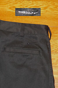 NIKE GOLF SHORTS PERFORMANCE STRETCH FABRIC BLACK DRIFIT EC!! 32 TAG33  MEAS
