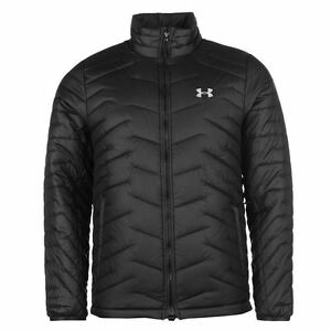 Under Armour Cold Gear Reactor Jacket Mens BlackGrey Coats Outerwear Sportswear