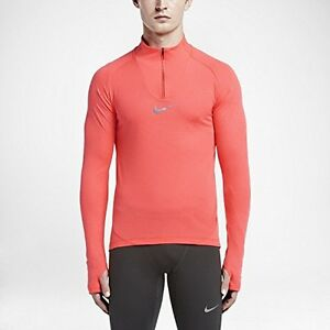 Nike Aero React Mens Long Sleeve 14 Zip Adaptive Cooling Running Top Shirt 6839