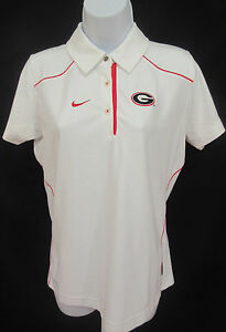 Georgia Bulldogs Women's Small (4-6) NIKE Dri-Fit Polo Shirt - White