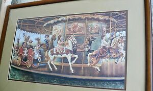 LEE DUBIN LIMITED EDITION SIGNED NUMBERED 7100 LARGE CAROUSEL RIDE FAIR
