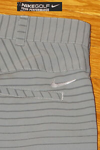 NIKE GOLF SHORTS TOUR PERFORMANCE STRETCH GREY STRIPE DRYFIT EC! 33 TAG34 MEAS