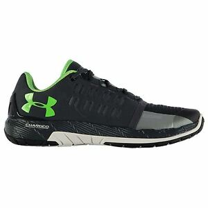 Under Armour Charged Core Running Shoes Mens GryWht Sports Trainers Sneakers
