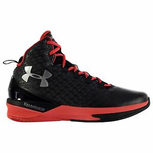 Under Armour Drive 3 Basketball Shoes Mens BlkRed Trainers Sneakers Footwear
