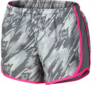 Nike Girls Kids L Large Tempo Running Shorts Youth Dri Fit Grey Pink