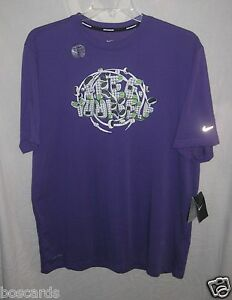 NIKE DRI FIT FREE YOURSELF SS RUNNING ATHLETIC SHIRT 556261 521 PURPLE XL XLARGE