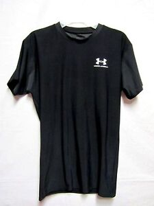 UNDER ARMOUR sport shirt  top boys Youth Large  (age ~8) black dry fit fabric