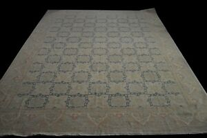 Antique textured 13'x17' Royal Super Chobi Peshawar Traditional Hand-Knotted Rug