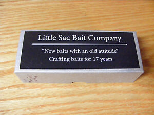 Little Sac Bait Co Meramec Minnow Glasseye Lure in Luminous Green Crackle Color