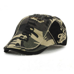 Camouflage Beret Cap Visors Hats for Men And Women Sun Hat Gorras Planas Flat Ca