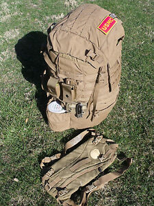 USMC FILBE Marine Main Field Pack Bag Large Rucksack Pouches Patches Hydration