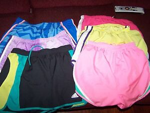 Women's Nike Fit Dry Lined Running Shorts S Athletic Gym Workout Fitness Swoosh