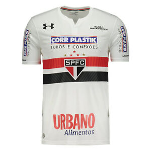 Sao Paulo w Sponsors Home Soccer Football Jersey Shirt 2017 Under Armour Brazil