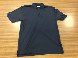 Kartel Welcome to the Club Navy Blue Golf Dry Fit Polo Shirt Men's Size Medium