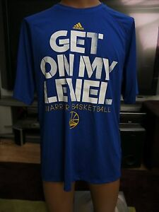 New Golden State Warriors Get On My Level Adidas Dry-fit T-shirt large