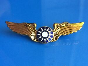 RARE Vintage Military Army Air Force Aviation FLYING TIGER Gold Wings Pin