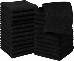 Pack of 24 Cotton Washcloths 12x12 inches for Finger and Face Utopia Towels $18.99