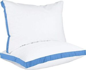 Gusseted Quilted Pillow Set of 2 Bed Pillows Side Back Sleepers Utopia Bedding