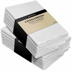 Pack of 12 Cotton Dinner Napkins Hotel Quality 18x18quot; Utopia Kitchen