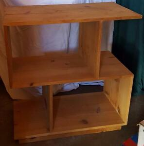 Wonderful Hand Made Solid Wood Shelf Unit UNIQUE AND UNUSUAL SHAPE RAW