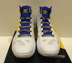 UNDER ARMOUR WARRIORS CURRY 2 GOLD RINGS BASKETBALL SHOES MEN SIZE 13 W RECEIPT