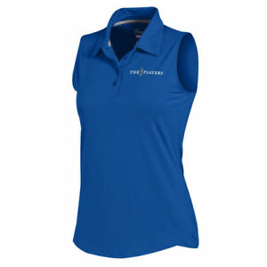 Under Armour THE PLAYERS Women's Royal Leader Sleeveless Performance Polo