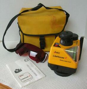 LeveLite LiteHouse 4 ROTARY LASER LEVEL with Case & Safety Glasses