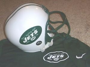 NEW YORK JETS FOOTBALL HELMET FRANKLIN YOUTH NIKE DRY FIT SHIRT JERSEY SMALL