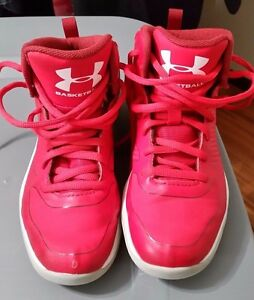 Under Armour Boys Pre school UA Basketball Shoe Size 1Y 1 year old Red White
