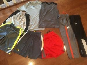 Boys Under Armour Nike Lot Size Small 78 Pants Shorts Sleeveless Compression
